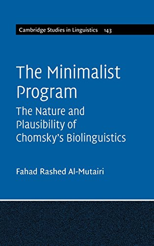 The Minimalist Program (Cambridge Studies in Linguistics) por Fahad Rashed Al-Mutairi