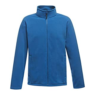 Absab Ltd Regatta Micro Fleece Adult Jacket Mens Long Sleeve Winter Warm Plain Blank Full Zip Outdoor Walking Jumper Oxford Blue XXL