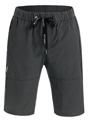 Promstar Strand Shorts Badeshorts Beachshorts Boardshorts Badehose Herren kurz Summer Grau