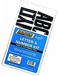 Seachoice 50-77111 Surtido 148 Letras/Números, Color Negro
