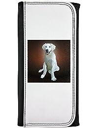 Kuvasz perro breed. piel sintética tipo cartera