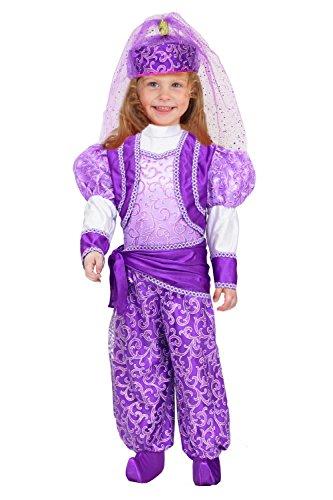 Vestito costume maschera di carnevale - odalisca shimmer shine - taglia 5/6 anni - 88 cm
