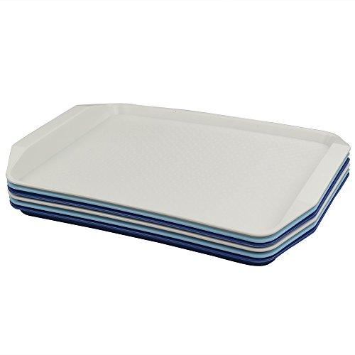 Fosly Bandejas de Plástico para Servir Comida Rápida, 6 paquetes, Bandeja Plastico...