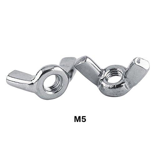 10 Pcs DIN315 M3-M8 Acier Inoxydable SS316 Papillon Écrous Aile Nten Fastener Supply(M5)