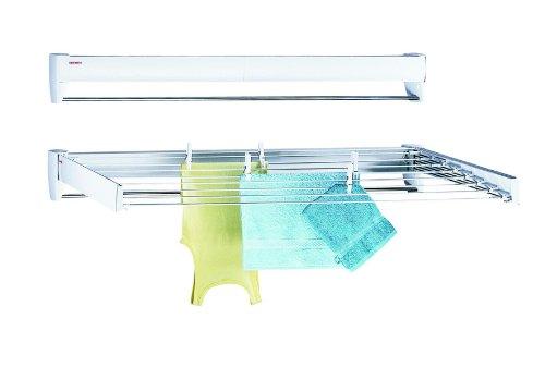 Leifheit Telegant 81 Protect Plus Wandtrockner, hängender Wäschetrockner im kompakten Format, Wäscheständer ausziehbar für Badezimmer oder Balkon