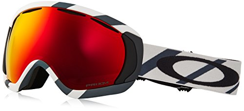 Oakley Canopy Asian Fit Snow Goggles, Hazard Bar Slate Ice Frame, Prizm Torch Iridium Lens, Large
