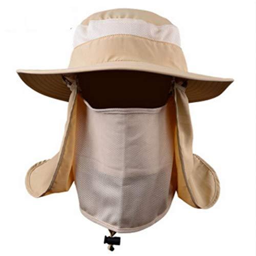AROVON Hut Army Wide Brim Bucket Hat Mit String UV Gesicht Nackenschutz Polyester Hut Panama Cap