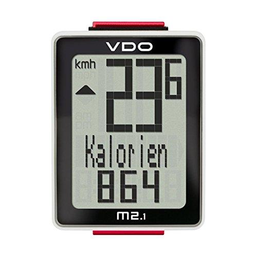 VDO M2.1 WR Fahrradcomputer (mit Kabel) Tacho 10 Funktionen inkl. Kalorienzähler