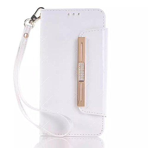 Samsung Galaxy S6 Case,rosa Magnetische Folio Flip Stand Fall + Weiße Hardcover Für Samsung S6 ( Color : 2 , Size : Samsung S6 ) 4