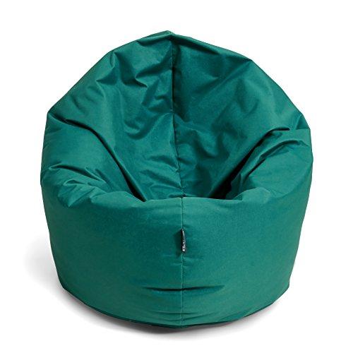 BuBiBag Sitzsack 2-in-1 100cm Durchmesser Funktionen mit Füllung Sitzkissen Bodenkissen Kissen...
