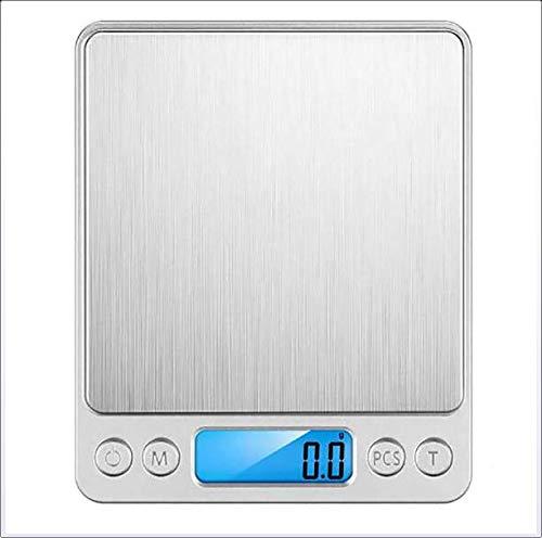 DJG Elektronische hochpräzise elektronische Waage Küchenwaage 0.1G / 3 kg USB-Lade elektronische Waagen