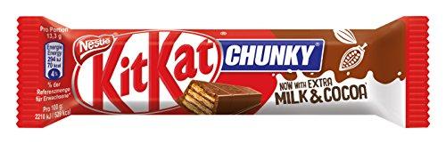 Chunky Schokoriegel (Nestle KitKat Chunky Schoko-Riegel, Milch-Schokolade, 24er Pack (24 x 40g) großpackung)