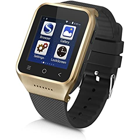 Excelvan PW6-G Smartwatch Movil 3G Libre (Android 4.4, Dual Core, 512MB RAM, 8GB ROM, Cámara 2.0MP,Bluetooth, Email, GPS, WIFI) -