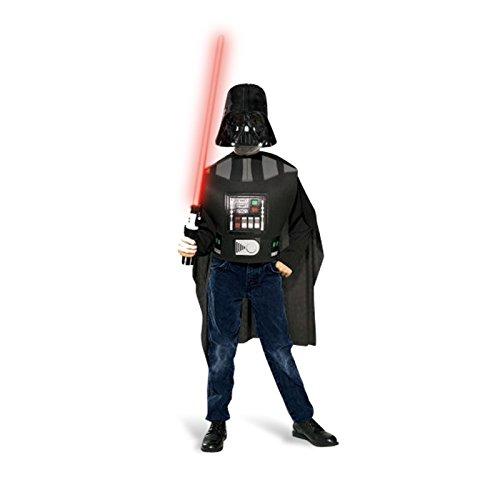 Kostüm Luke Endor Skywalker - Star Wars Darth Vader Kinder Kostümset, 3-teilig mit Lichtschwert, für Karneval