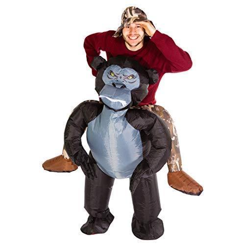 Bodysocks® Aufblasbares Gorilla Kostüm für Erwachsene (Aufblasbare Günstige Halloween-kostüme)