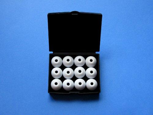 12 Stück Groß (L-HB) Weiß (White) Ersatz Set Ohrstöpsel Ohreinsätze für Klipsch Image Serie: X11i, Lou Reed X10i, X10i, X7i, A5i, S5i, Reference S4i, S4i Rugged, S4i II, S4a II, S4, S3, S2, S2m, X1 und Custom 1, 2, 3 Serie In-Ear Ohrhörern - 2