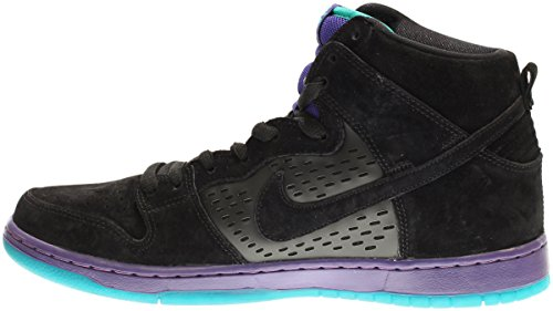 Nike Dunk High Premium Sb Skate Shoe black/grape ice-new emerald-black