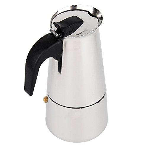 BAYTTER Premium Moka Espressokocher aus Edelstahl 6 Tassen Espressomaschine Espressokanne für Gas-...