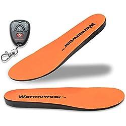WarmawearTM Semelles Chauffantes Deluxe Imperméables, sans Fil Télécommande (L)