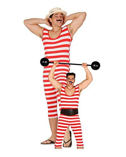Preisvergleich Produktbild Rot-weißer Retro Badeanzug für Herren One Size