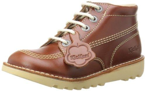 Kickers Unisex Kids Kick Hi Core Boots, Maron DK Tan, 39 EU