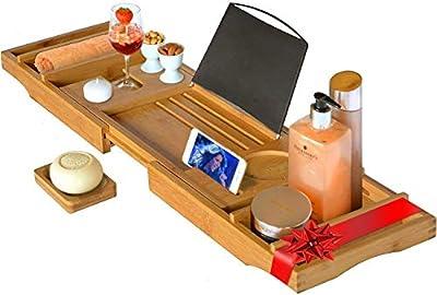 Luxus-Badewannenablage Badewannenauflage Sekthalter Badewannentablett