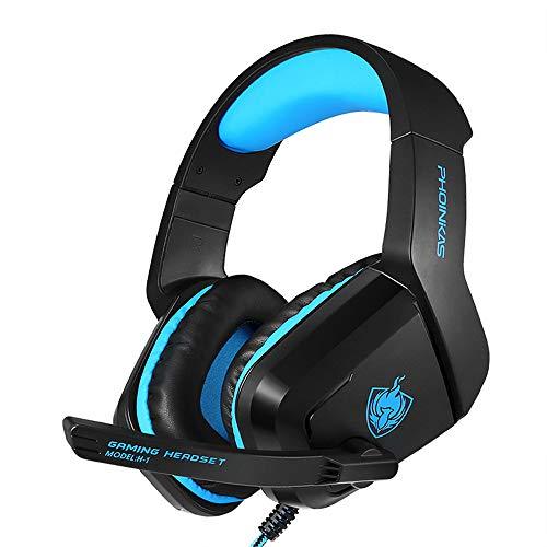 Game One Gaming Headset mit HyperX Signature Memory-Schaum, schwenkbar zum Stummschalten von Rauschunterdrückung Mikrofon Blau blau -