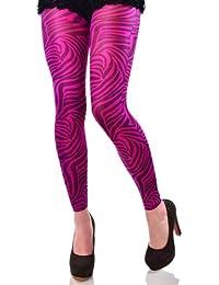 Hotlook Bedruckte Leggings Zebra Muster fuchsia schwarz