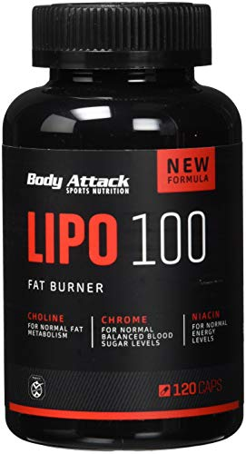 Body Attack LIPO 100 Fat Burner, 120 Kapseln, 1er Pack (1 x 101 g)