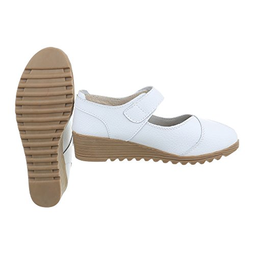 Scarpe da donna Scarpe col tacco zeppa Zeppa Ital-Design bianco 8011