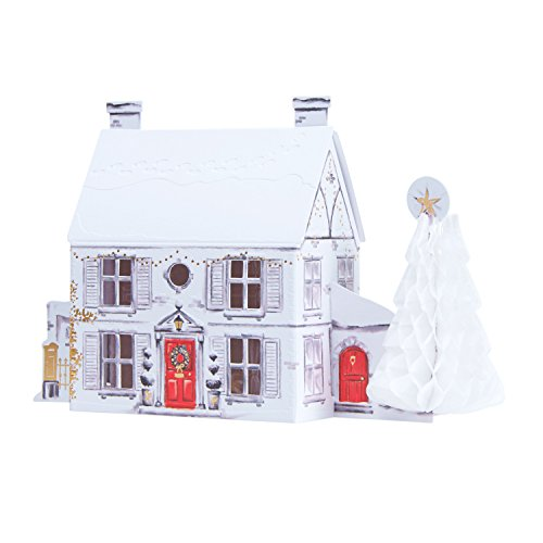 Hallmark Luxury Pop Up Christmas Cards House Scene - 5 Cards, 1 Design