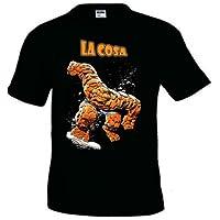 """Camiseta Los cuatro Fantasticos """"La Cosa"""" manga corta negra (Talla: TallaXS Unisex Ancho/Largo [49cm/62cm] Aprox]) - Cosmética y perfumes - Comparador de precios"""