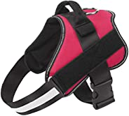 PetVogue Dog Harness, No-Pull Reflective Breathable Adjustable Pet Vest with Handle for Outdoor Walking - No M