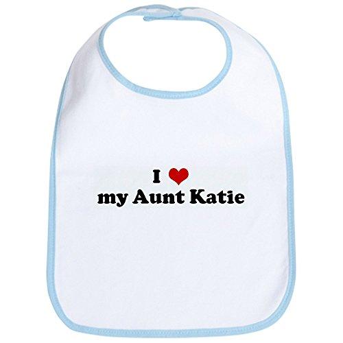 CafePress - I Love my Aunt Katie Bib - Cute Cloth Baby Bib, Toddler Bib