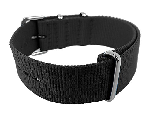 Cool Color Edition Natoband Bruno Banani Nylon Band 20mm CCE, Farbe:schwarz