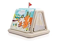 Idea Regalo - Intex 48634, Casetta Gonfiabile Campeggio, 127 x 112 x 116 cm, Multicolore