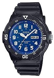Casio Collection Herren-Armbanduhr MRW200H2B2VEF, schwarz/Blau/Weiß