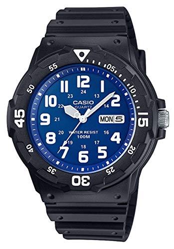 Casio Reloj Analogico para Hombre de Cuarzo con Correa en Resina MRW-200H-2B2VEF