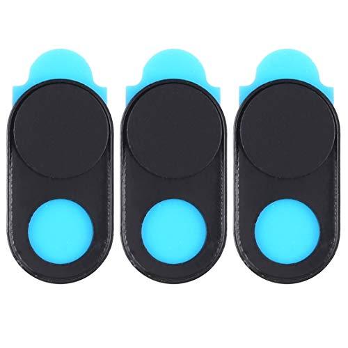 webcam cover, cubierta de cámara universal diseño imán ultra-delgada cubierta de cámara web, de escritorio, portátil, tablet, móviles (3 pcs) (color : black)