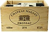 Château Malvat 2016 in Original Holzkiste Bordeaux - Fronsac Rotwein