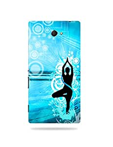 alDivo Premium Quality Printed Mobile Back Cover For Sony Xperia M2 / Sony Xperia M2 Printed Peace / Yoga Mobile Case / Cover (MKD078)
