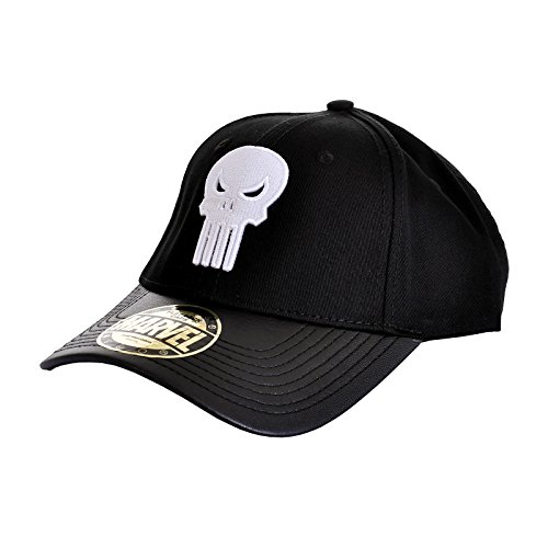 Logo Punisher Basecap cráneo Marvel negro