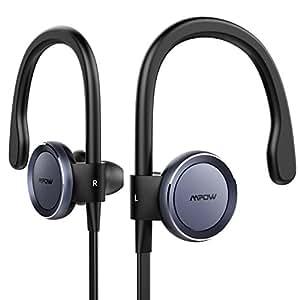 Mpow 4.1 Astore Auricolari Bluetooth Senza Fili Sweatproof Cancellazione del Rumore Ganci Retroauricolari per Smartphones