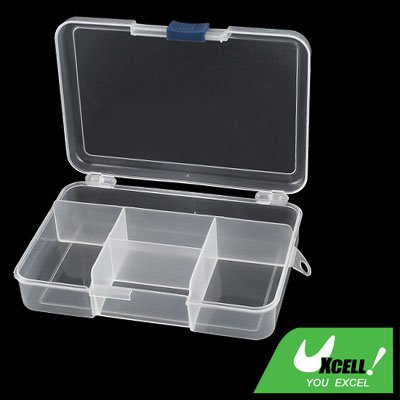 sourcingmap klar Plastik 5 Fach Fisch Werkzeug Pillendose Medizin Pille Speicher Halter Case (Schmuck 5-fach)