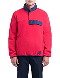 Herschel Fleece Pull Over Red/Peacoat
