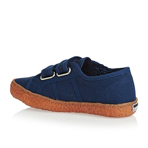 Superga Kinder-Unisex 2750-Naked Covj Niedrige Sneaker Blue mid