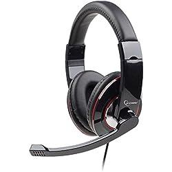 [Cable] Gembird MHS 001 - Auriculares con micrófono, negro
