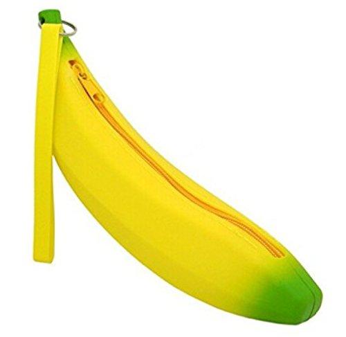 Katara 1800 Estuche de Lápices Escuela / Oficina Papelería – Bolso Escolar con Patrón de Plátano, Amarillo