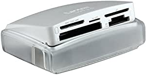 Lexar Professional Multi-Card 25-in-1 USB 3.0 (500MB/s) Memory Card Reader - White