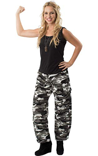 ORION COSTUMES Adult Arctic Camo Army Girl Fancy Dress - Adult Girl Kostüm